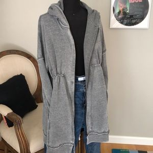 Dark gray long zip hoodie